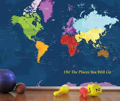 world map decal for kids worldmap mural decal very big wall zoom