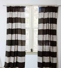 Charcoal Drapes Erica Striped Block Print Curtains Home Decor U0026 Lighting