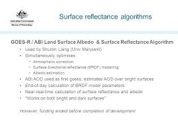 bureau univ land surface reflectance approaches ian grant australian bureau of