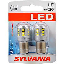 buy sylvania 1157 white syl led mini bulb pack of 2 1157slbp2 at