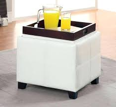 ottoman anton pu leather storage ottoman with flip top tray