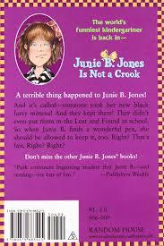 amazon com junie b jones is not a crook junie b jones no 9
