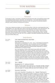 Examples Of Work Resumes by Assembler Resume Samples Visualcv Resume Samples Database