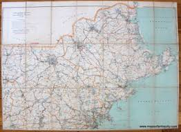 massachusetts road map antique maps and charts original vintage historical