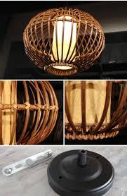 nilighta handmade modern rattan ceiling pendant lamp lighting