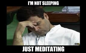 Sleeping In Meme - 5 hilarious memes best explain rahul gandhi was not sleeping