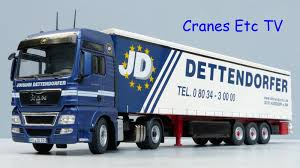 nzg man tgx curtainside trailer u0027dettendorfer u0027 by cranes etc tv