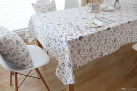 foreign trade fabric table cloth cotton table taiwan environmental