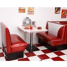 elite style diner booth set retro furniture retroplanet com