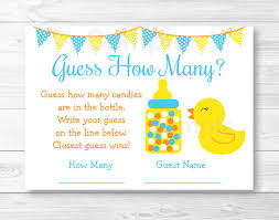 rubber duck guess how many baby shower game rubber duck baby