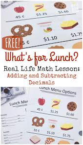 Daily Life Skills Worksheets Real Life Adding And Subtracting Decimals Lesson Free