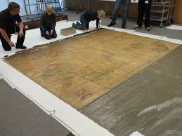 Map From Large Varnished Map From 1740 Unrolled During Preservation U2026 Flickr