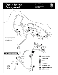 Valley Of Fire State Park Map by Crystal Springs Campground Sequoia U0026 Kings Canyon National Parks