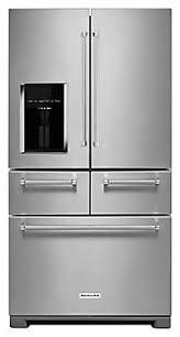 kitchenaid cabinet depth refrigerator 25 8 cu ft 36 multi door freestanding refrigerator with platinum