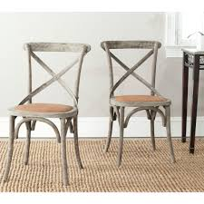 wicker dining room chairs safavieh franklin distressed colonial walnut x back dining chair