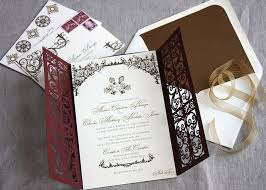 scroll invitations diy style laser cut invitations