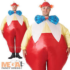 Tweedle Dee And Tweedle Dum Costumes Official Wonderland Tweedle Dum Dee Inflatable Fancy Dress Costume
