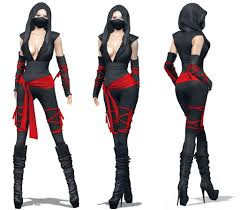 Womens Biker Halloween Costume Womens Ninja Costume Perm Costumes Halloween Costumes