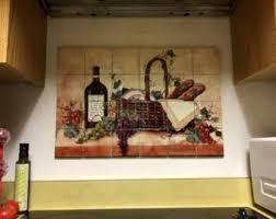ceramic tile murals for kitchen backsplash hangable tile mural kitchen backsplash kitchen