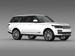 land rover white 2014 range rover autobiography black l405 2014 3d model max obj 3ds fbx