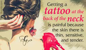 wondering if back of the neck tattoos are painful think no more