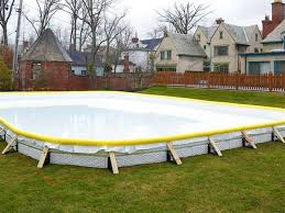 Hockey Rink In Backyard by Backyard Ice Rink Kit