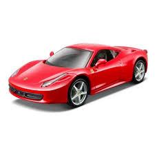 voiture de sport modèle réduit voiture de sport ferrari rp 458 italia rouge 1 24