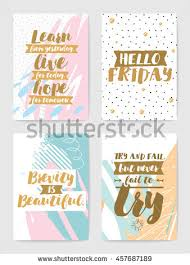 creative cards inspirational quotes on abstract stock vector