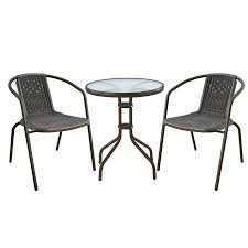 Metal Garden Table And Chairs Monaco 2 Seater Metal Garden Patio Bistro Set Robert Dyas