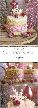 mini cranberry fluff cakes home made interest