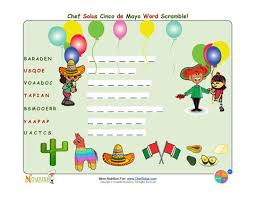 holiday 6 cinco de mayo fun kids unscramble the words puzzle