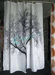 Shower Curtain With Tree Design Black Fabric Shower Curtain Uk Nrtradiant Com