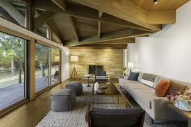 Exposed Beam Ceiling Living Room by 40 Homes With Exposed Beams Rustic To Modern Andrea Saxion