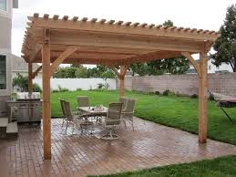Pergola Rafter End Designs by Plan For An Easy 16 U0027 X 20 U0027 Diy Solid Wood Pergola Or Pavilion
