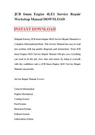 100 4le2 parts manual isuzu diesel engine parts isuzu