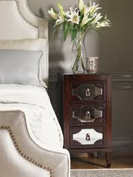 Mirrored Nightstand Kensington Place Lucerne Mirrored Nightstand Lexington Home Brands