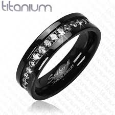 black wedding band sets his hers 4pc black stainless steel titanium