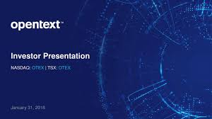 Seeking Text Open Text Corporation 2018 Q2 Results Earnings Call Slides