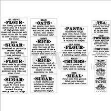 healthy kitchen definition labels flour sugar quinoa flaxseeds