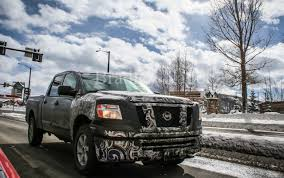 nissan titan diesel release spied 2015 nissan titan diesel exercising at elevation the