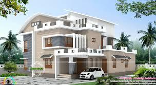 4 bedroom modern mix house plan kerala home design and kerala