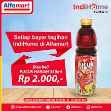 Teh Pucuk Harum Di Alfamart alfamart promo spesial indihome fiber gratis teh pucuk harum