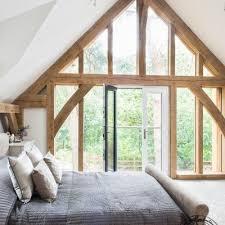 glazed gable in the bedroom carpenter oak frame house timber