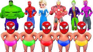 Diaper Halloween Costume Superhero Kids Learn Colors Diaper Finger Family Song Nursery
