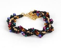crystal rope bracelet images Spiral rope crystal beadwork bracelet jewellery making kit with jpg