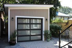 modern minimalist flat roof garage with balcony ideas goocake red