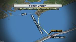 St George Island Florida Map by Head On Crash Kills Two On The St George Island Bridge