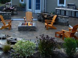 Paver Patios With Fire Pit by Tiny 19 Patio With Pergola And Firepit Design On Paver Patio