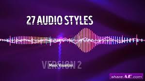 audio visualizer music react 2 ae template zone ae