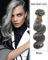 grey hair extensions grey weave wave weft remy human hair extensions